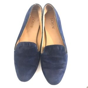 J. Crew Navy Smoking Suede Slippers Loafers